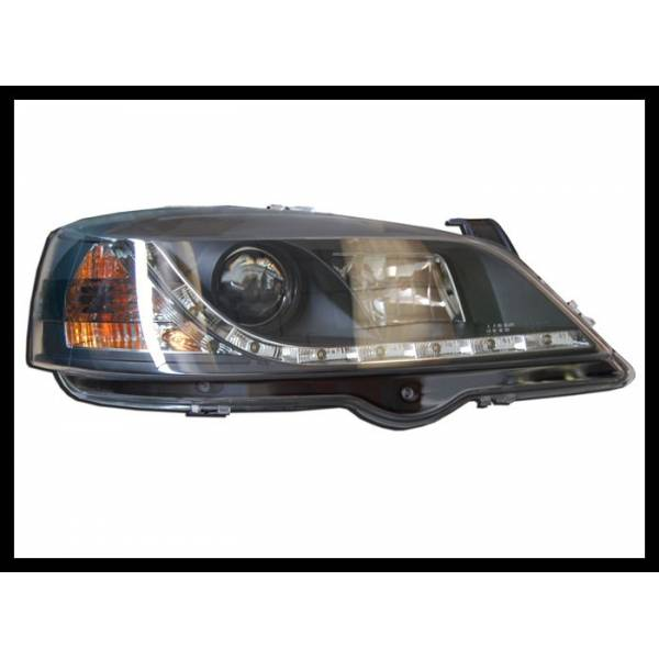 DAYLIGHT HEADLIGHTS OPEL ASTRA G BLACK MOD.III
