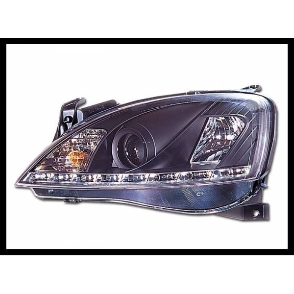HEADLAMP DAYLIGHT OPEL CORSA C BLACK