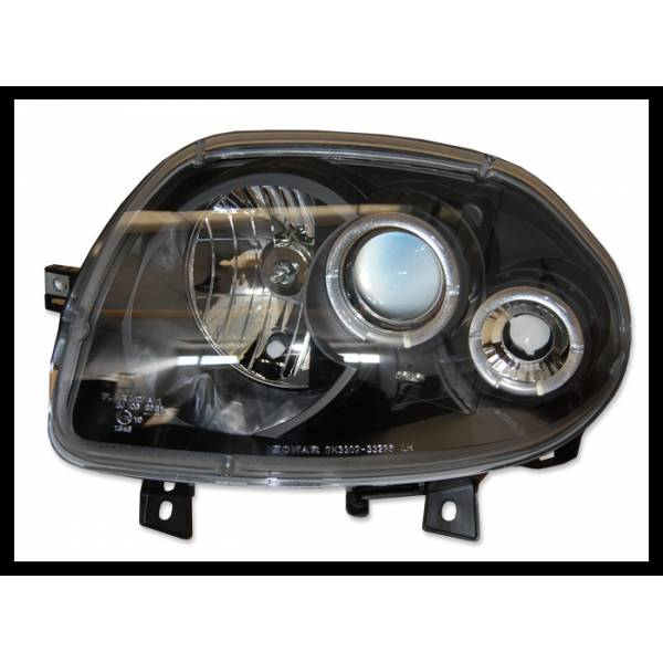 ANGEL EYES HEADLIGHTS RENAULT CLIO II '98 BLACK MOD.II