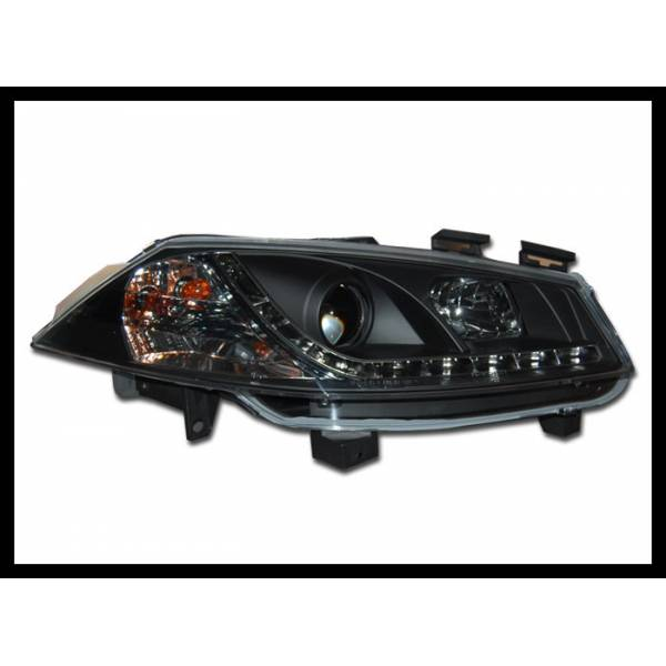 DAYLIGHT HEADLIGHTS RENAULT MEGANE '03 BLACK PHASE 1