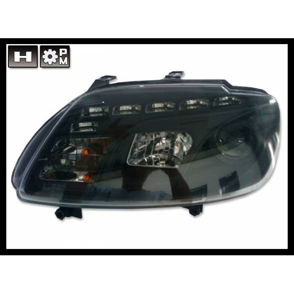 DAYLIGHT HEADLIGHTS '03 VOLKSWAGEN TOURAN / CADDY '05 BLACK