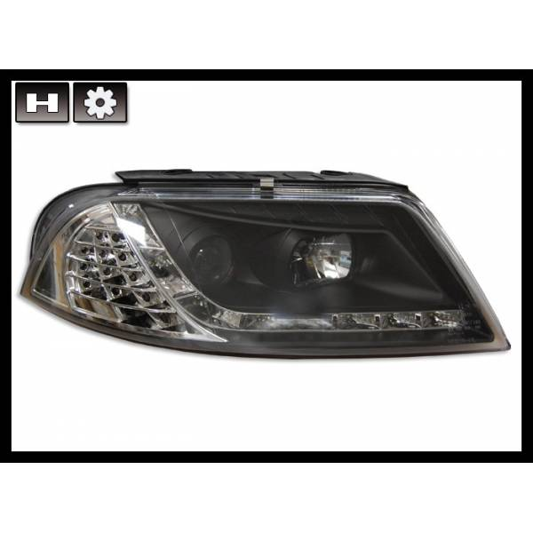 DAYLIGHT HEADLIGHTS VOLKSWAGEN PASSAT '01 BLACK INT. LED