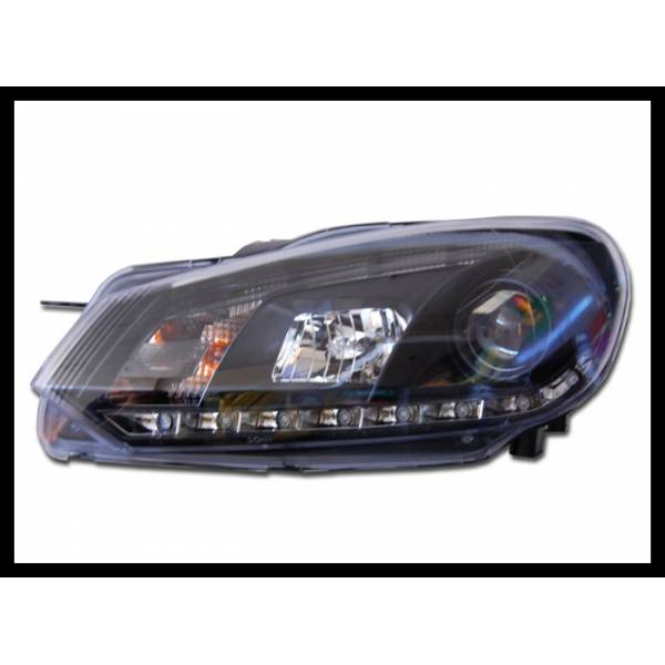 DAYLIGHT HEADLIGHTS REAL BLACK VOLKSWAGEN GOLF 9 TO 12 JUNE