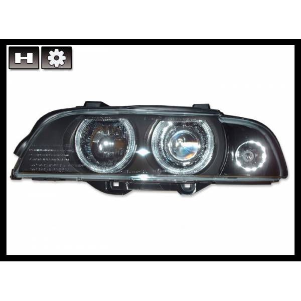 BMW E39 95-03 HEADLIGHTS BLACK XENON
