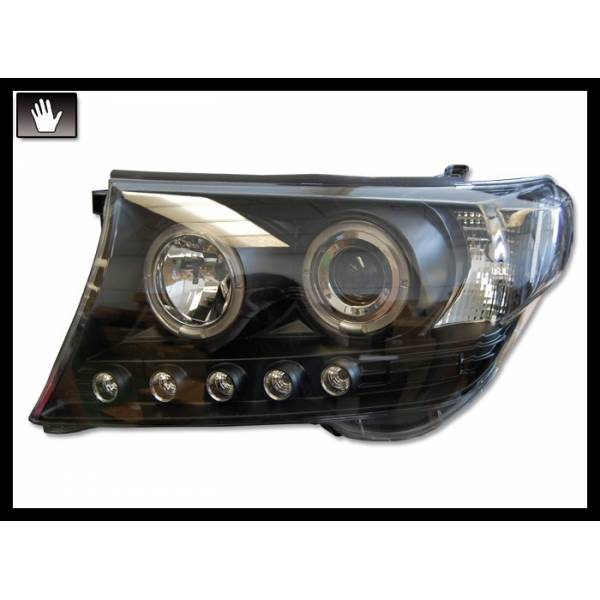 HEADLAMP TOYOTA LAND CRUISER F J200 08 BLACK H1-H1