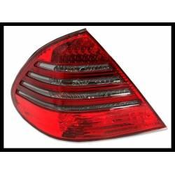 PILOTOS TRASEROS MERCEDES W211 07-09 LED RED SMOKED