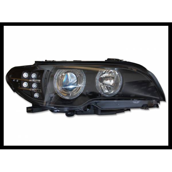 HEADLIGHTS BMW E46 2003-2005 2P BLACK FLASHING LED