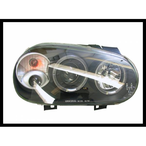 HEADLAMP ANGEL EYES BLACK VOLKSWAGEN GOLF 4 C / FOG