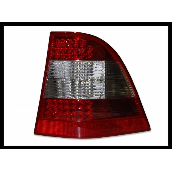 POSTERIORI MERCEDES W163 ML '02 -'04, ROSSO, LED