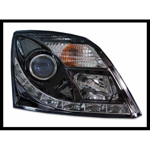 HEADLAMP DAYLIGHT OPEL VECTRA C, BLACK