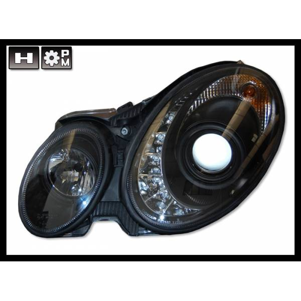 DAYLIGHT HEADLIGHTS MERCEDES W211 '06'08, BLACK