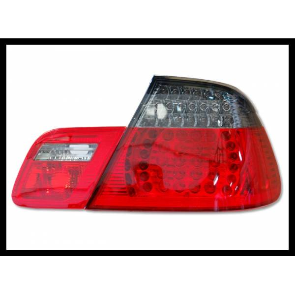 REARLIGHTS BMW E46 '98 -'05 DC, LED, RED, CHROMED, ??SMOKED