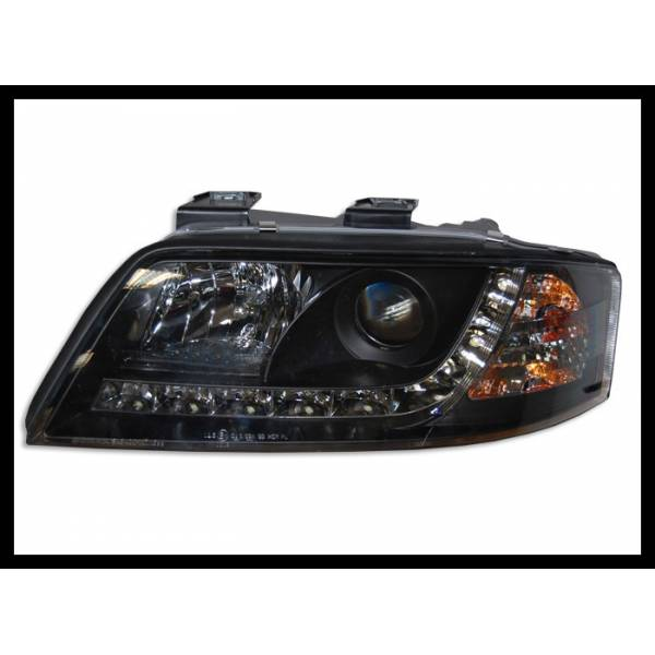 DAYLIGHT HEADLIGHTS AUDI A6 '99 -00 BLACK