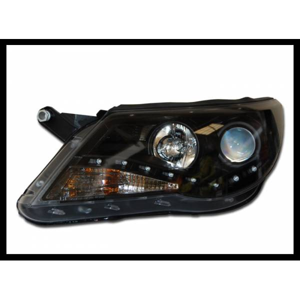 VOLKSWAGEN TIGUAN 07 HEADLIGHTS DAY LIGHT BLACK