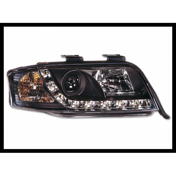 DAYLIGHT HEADLIGHTS AUDI A6 '01 -03 BLACK