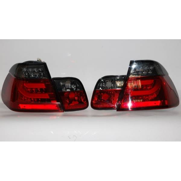 REARLIGHTS CARDNA BMW E46 02-05 4P LIGHTBAR RED / SMOKED