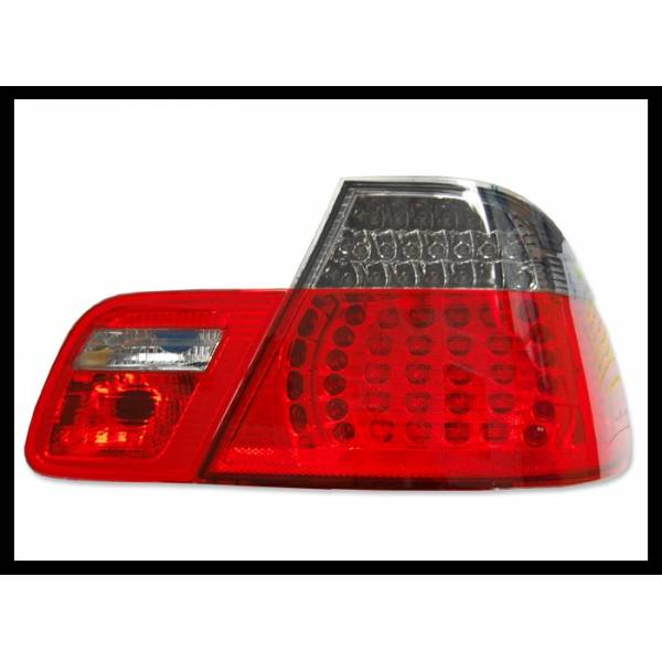 BMW E46 COUPE REARLIGHTS, '99 -02 LED RED SMOKED.