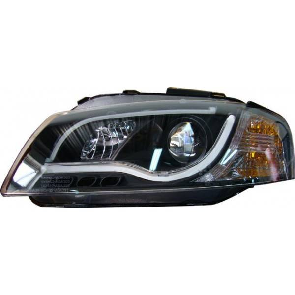 HEADLIGHTS DAY LIGHT AUDI A3 03-08 BLACK LTI