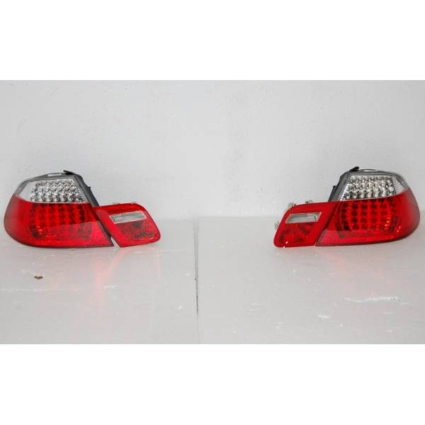 REAR LIGHTS BMW E46 '98 -'05 DC, LED, RED, CHROMED