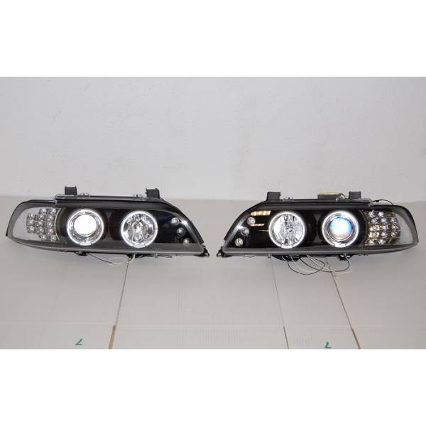 BMW E39 95-03 FARÓIS PRETO INT.LED