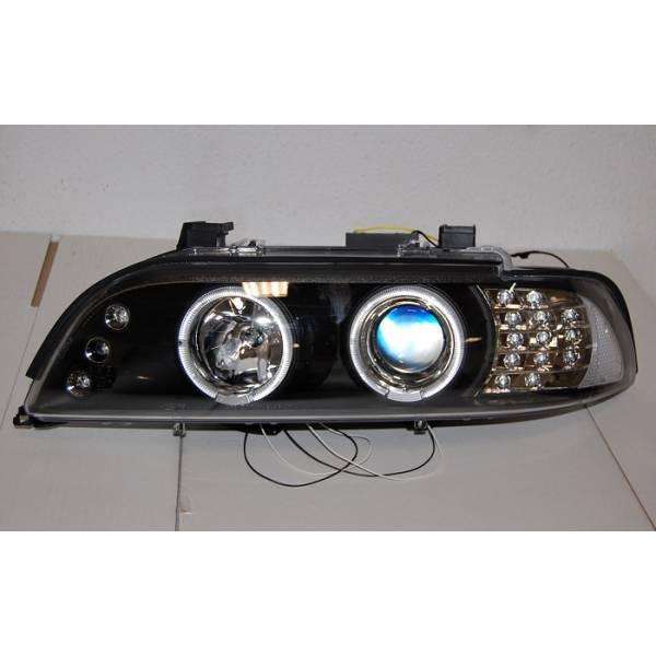 FAROS DELANTEROS BMW E39 95-03 BLACK INT.LED