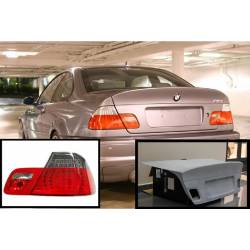 PACK PORTÓN LOOK CSL Y PILOTOS LED RED SMOKED BMW E46 2P 98-01