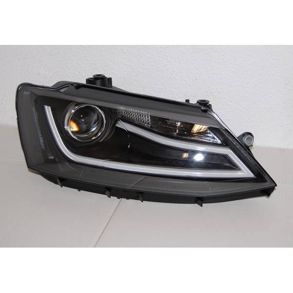 VOLKSWAGEN JETTA 11 HEADLIGHTS DAY LIGHT BLACK