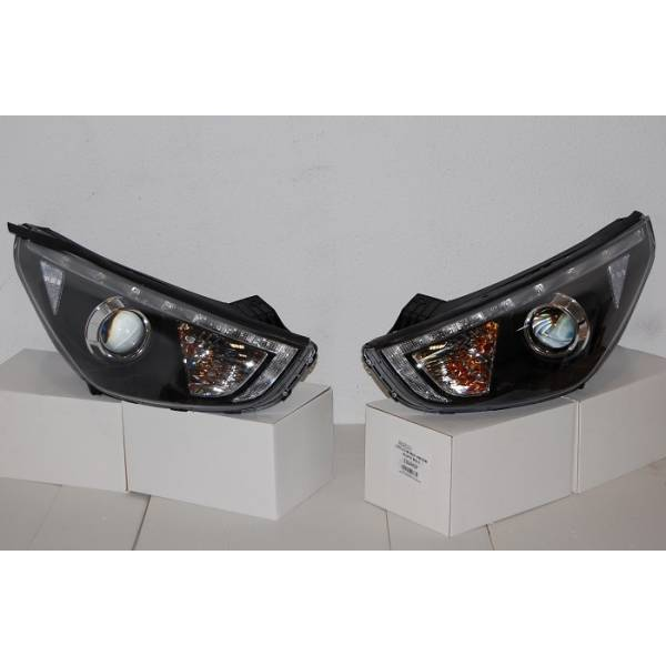 HEADLAMP HYUNDAI IX35 10 DAYLIGHT BLACK