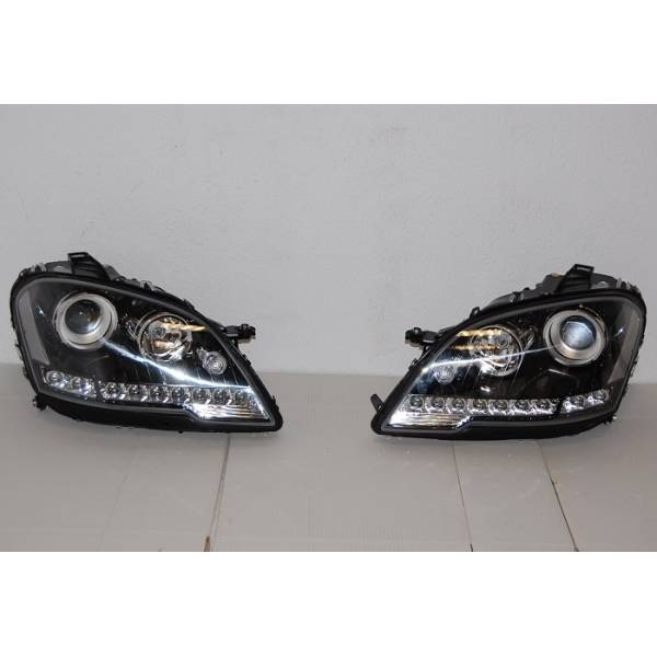 DAYLIGHT HEADLIGHTS MERCEDES W164 08-11 BLACK
