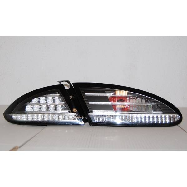 REARLIGHTS '05 -'08 LED SEAT LEON BLACK / CHROME LED FLASHING