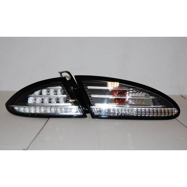 FANALI POSTERIORI '05 -'08 SEDE LED LEON BLACK / CHROME LED LAMPEGGIANTE