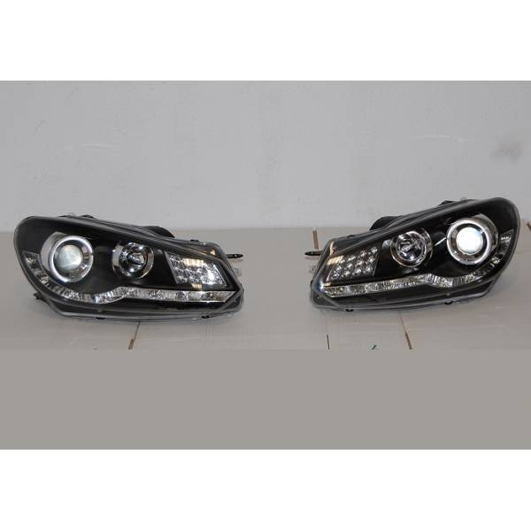 DAYLIGHT HEADLIGHTS VOLKSWAGEN GOLF JUNE 9 TO 13 BLACK INT. LED