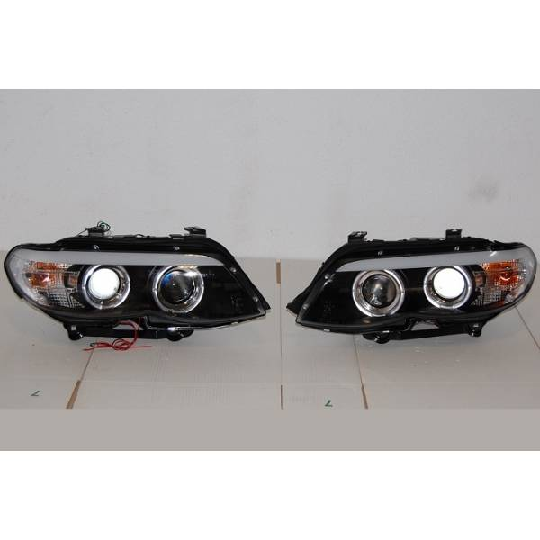 DAYLIGHT HEADLIGHTS BMW X5 E53 '03 -'06 BLACK