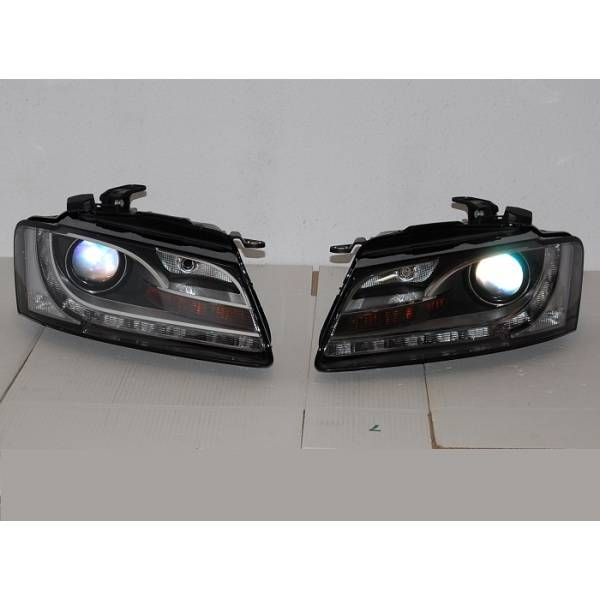 DAYLIGHT HEADLIGHTS AUDI A5 07-08 BLACK