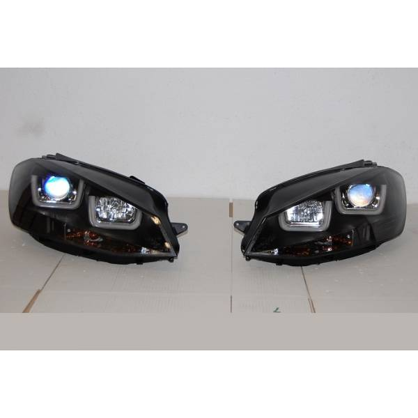 HEADLIGHTS LUD VOLKSWAGEN GOLF DAY REAL 7 BLACK