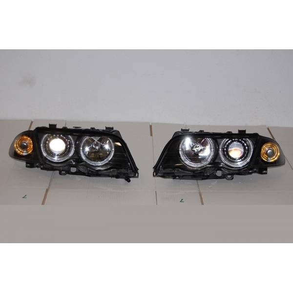 HEADLIGHTS BMW E46 '98 -'01 BLACK 4P