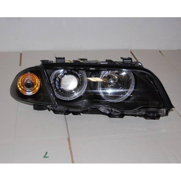 HEADLIGHTS BMW E46 '98 -'01 BLACK 4P