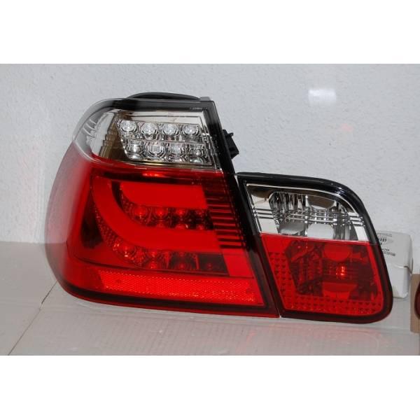 FAROLINS CARDNA BMW E46 4 PORTAS VERMELHAS 2002-2005 LIGHTBAR