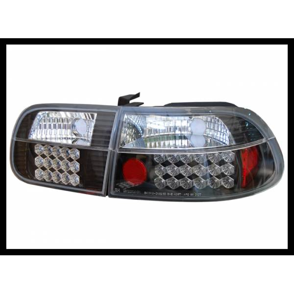 TAILLIGHTS HONDA CIVIC 3P '92 LED BLACK