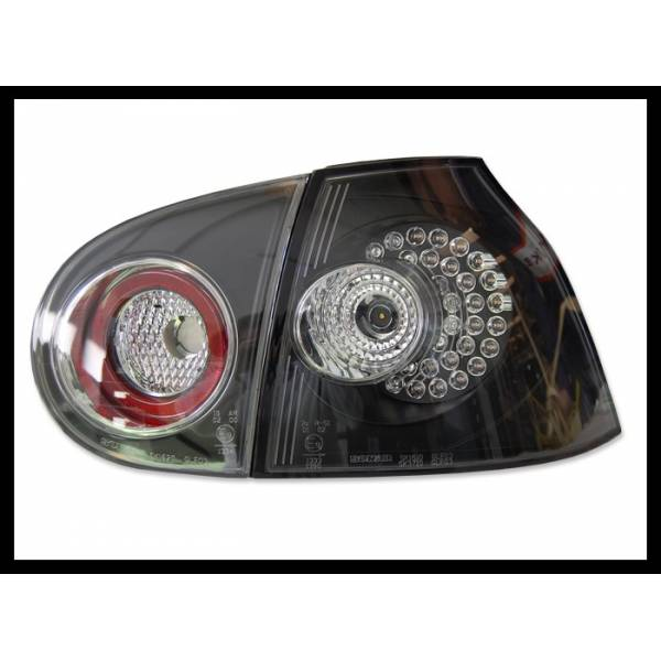 5 REARLIGHTS VOLKSWAGEN GOLF II BLACK