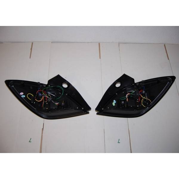 FANALI POSTERIORI CARDNA OPEL ASTRA H 04-08 3P NERO LED INT. LED