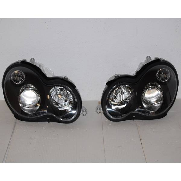 HEADLAMP MERCEDES C-203 '00 BLACK