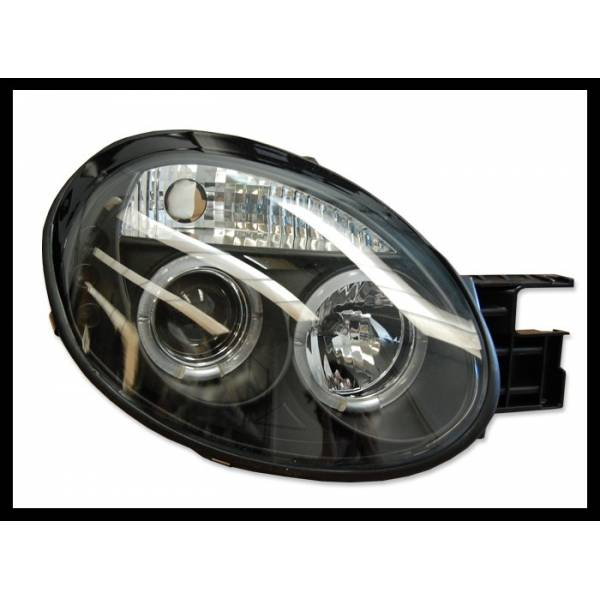 HEADLIGHTS ANGEL EYES CHRYSLER NEON '05 3P. BLACK