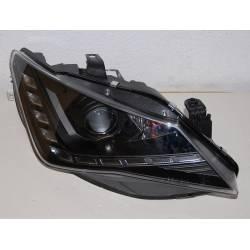 Set of headlamps day light Seat Ibiza 2013 black