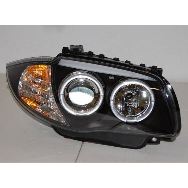 HEADLIGHTS ANGEL EYES BMW E87 / E81 / E88 / E82 04-11 BLACK