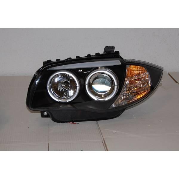 HEADLIGHTS ANGEL EYES BMW E87 / E81 / E88 / E82 04-11 BLACK