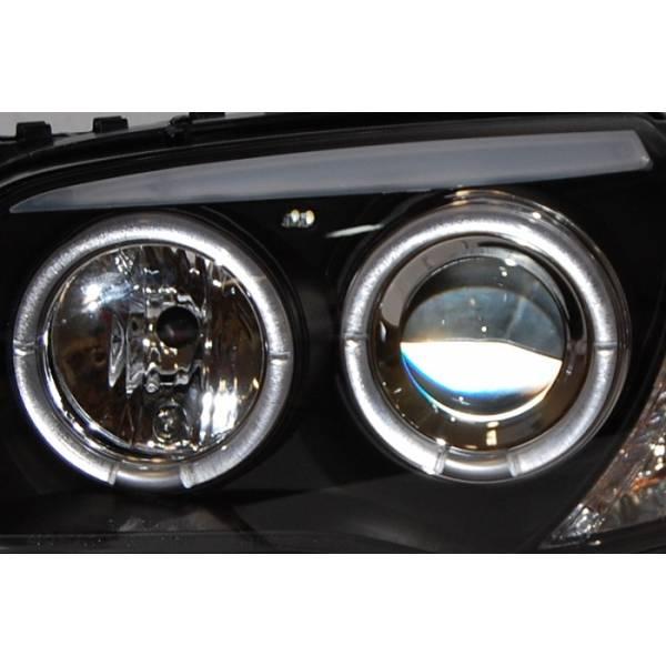 PHARES ANGEL EYES BMW E87 / E81 / E88 / E82 04-11 NOIR