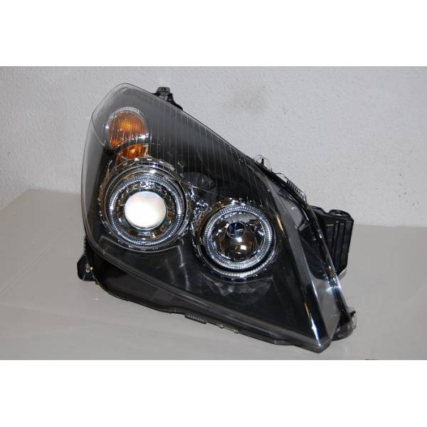 HEADLAMP ANGEL EYES BLACK OPEL ASTRA H ELECT.