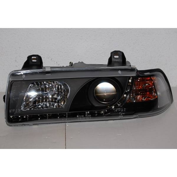 DAYLIGHT HEADLIGHTS BMW E36 4P '92. BLACK