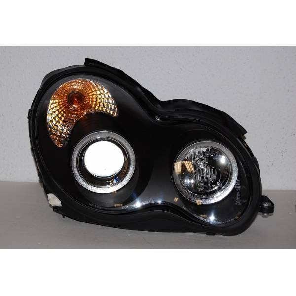 HEADLIGHTS BLACK MERCEDES W203 2001-2007